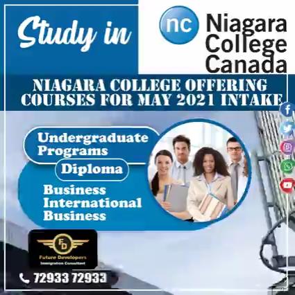 Study in canada (NC) Niagara college canada